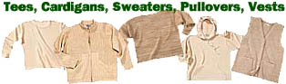Tees, cardigans, sweaters, pullovers, vests